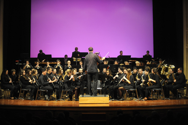 banda de musica de mao en el concert de nadal del teatre principal