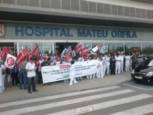 Se repetirán los actos de protesta a las puertas de los centros sanitarios.