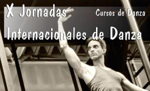 Detalle del cartel de las jornadas en las que aparece el bailarín Joel Toledo.