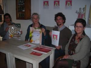 Susanna Pons, Laetitia Lara, Joan Taltavull y Anna M. Bagur presentaron la jornada de puertas abiertas en Líthica.