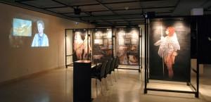 """Vista de la exposición """"Neandertales en Cataluña"""""""