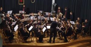 La Banda de Alaior en su concierto de Año Nuevo.
