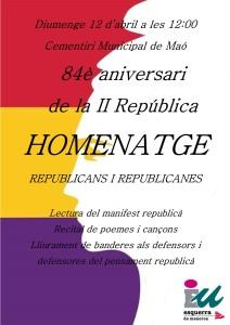 Cartel anunciador del homenaje.