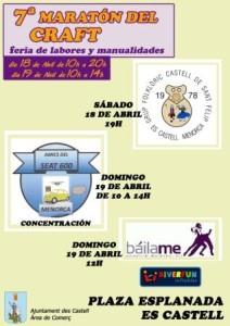 Cartel actuaciones VII Maratón Craft 2015