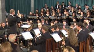 La Capella en su concierto de Pascua 2014. Foto: Capella D.