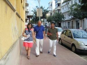 Los tres directores, en Maó, a principios de curso. FOTO.- Archivo