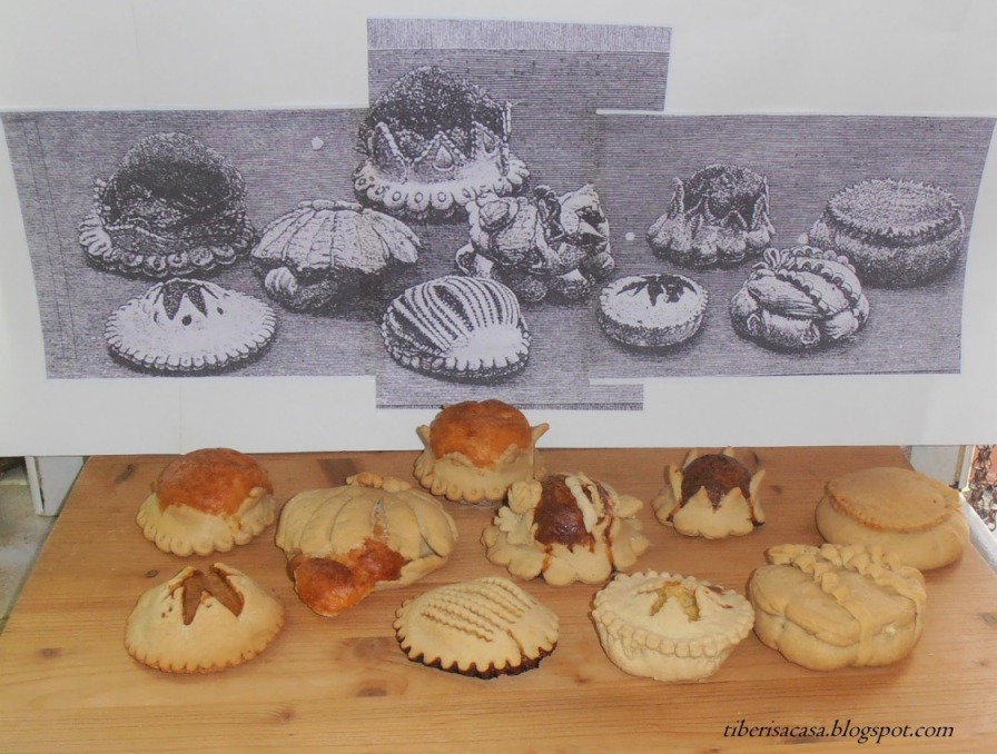 El grabado 'Formetjades' del Archiduque junto a la fotografía de las cocinadas por Rosa Rotger. Foto. R.R.T.