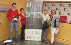 Cristóbal Marquès, Alicia Castillo, María Ángeles Querol y Maruja Baíllo, en la presentación del Congreso a la prensa.