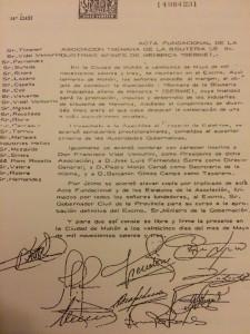 """Imagen del acta fundacional de SEBIME, con la firma de Vidal Venturini, y su designación como presidente. FUENTE.- """"En torno a la historia de SEBIME"""""""