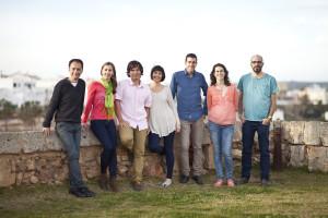 Imágenes de los siete primeros de la lista y de todos los miembros del equipo.