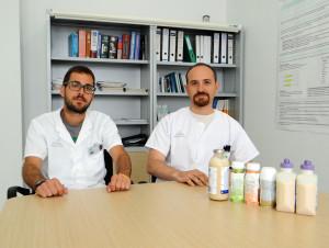 El dietista-nutricionista, Josep Lluch, junto con su colega Gabriel Mercadal. FOTO.- 4 Vents