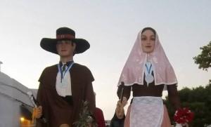 Lluís y Maria, gigantes de Sant Lluís. Foto: Colla de Geganters de Sant Lluís.