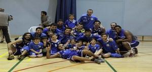 Celebración del triunfo ante el UCAM Murcia (Foto: deportesmenorca.com)
