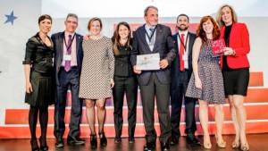 El equipo de Artiem Hotels, en la entrega de los reconocimientos celebrada en Madrid.