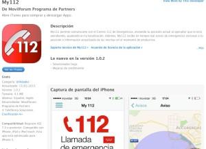 Captura de pantalla de la descripción de la aplicación en iTunes.