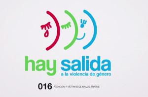 Imagen de una campaña para animar a salir de la violencia.