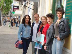 Vanesa Contreras, Tato Rabassa, Águeda Reynés, Pilar Garró y Patricia Redondo, en la presentación de la segunda edición del 'Mô de Moda'.