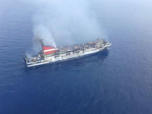 Imagen del barco de esta mañana. FOTO.- OPC Baleares