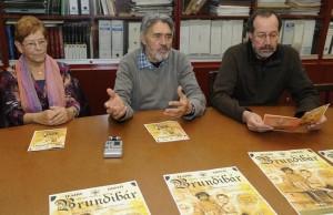 Marlén Coll, Joan Mercadal y Manolo Obrador.