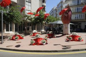 Rincón de la ciudad adornado el año pasado.