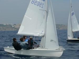 Triay y Mas, durante la regata.
