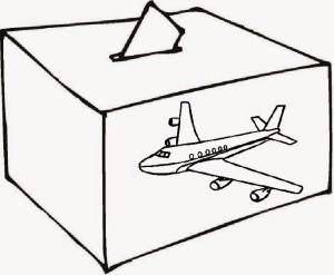 La problemática del transporte áereo, también en campaña. Ilustración.- J.P.