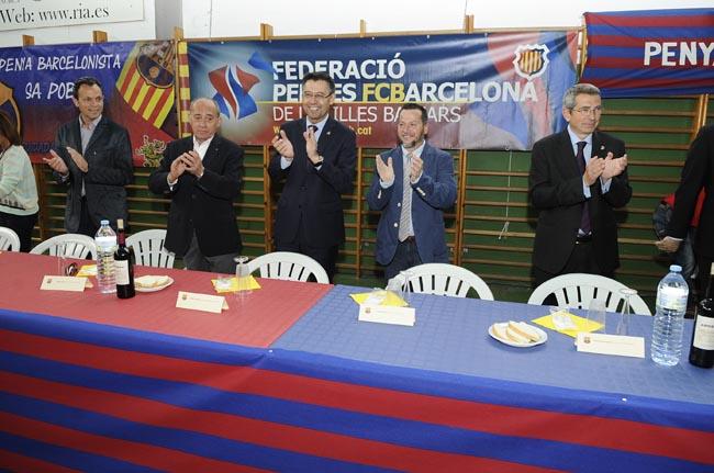 josep maria bartomeu presidente del bara en la trobada de pe–as barcelonistas en ferreries