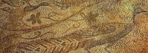 Detalle del mosaico de la Basílica de Fornàs de Torelló. Foto: Museu de Menorca.