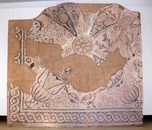 Mosaico de la Basílica de la Illa del Rei. Foto: Museu de Menorca.