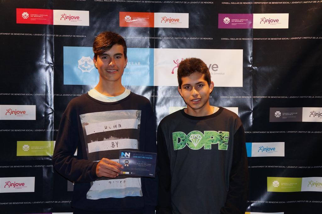 Gerard Fernández Moll y Benjamín Pereda. 1 premio concurmetratge 2015