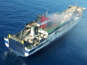 Aspecto del barco durante la jornada del jueves. FOTO.- OPC Balears
