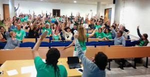 Reunión de la 'Assemblea de Docents' celebrada esta tarde en el IES Marratxí. FOTO.- AD