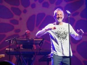 Rafa Sánchez, cantante de La Unión, en un concierto reciente.