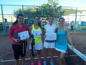 Ganadoras y finalistas del Nivel 1 femenino.