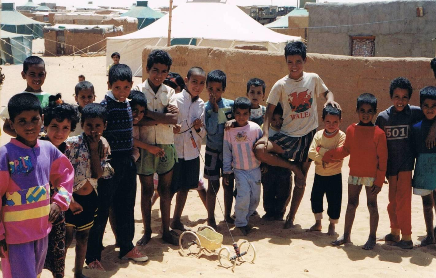 Niños sahrauís en los campamentos de refugiados de Tindouf.