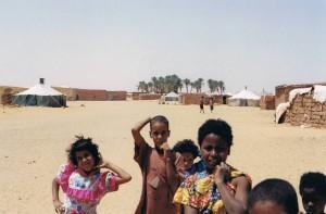 Niños sahrauís en los campamentos de refugiados de Tindouf1