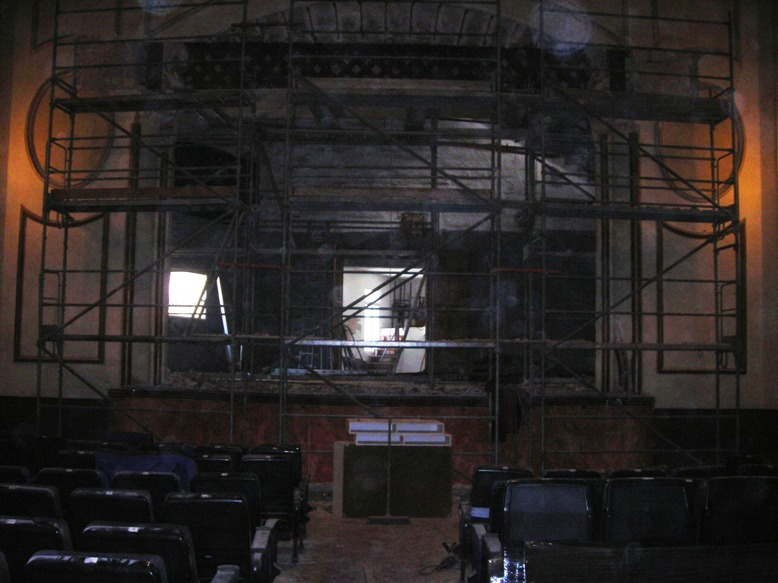 Obras teatro Calós Ciutadella.