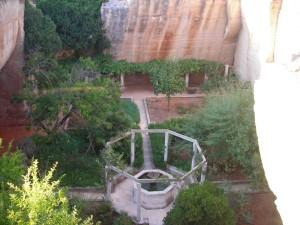 Jardín medieval de las canteras de s'Hostal.
