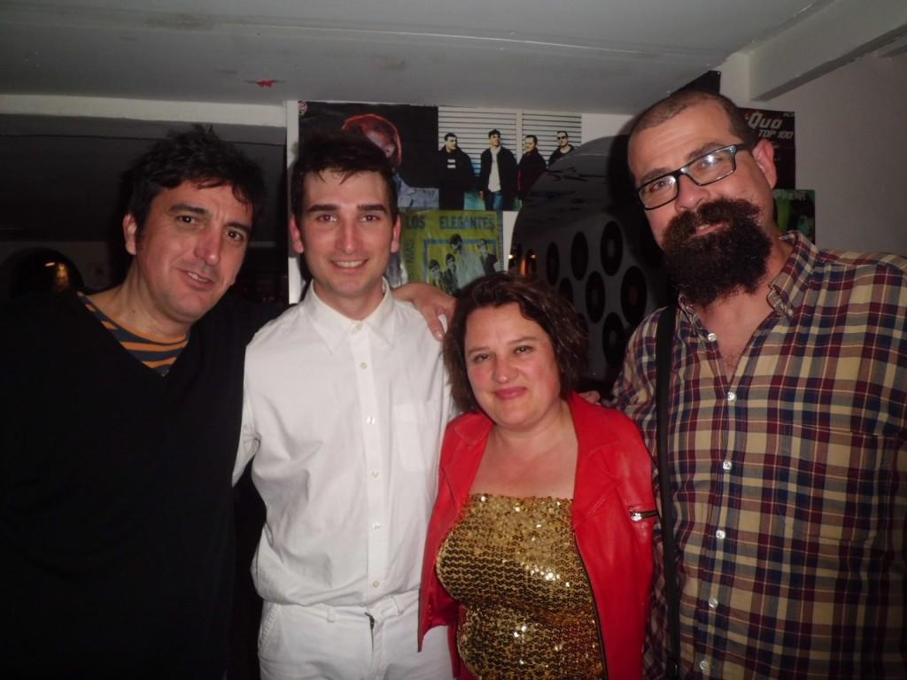 Salvador Oliva, Héctor Seoane, Apolònia Serra i Toni Gener en Horrouxou