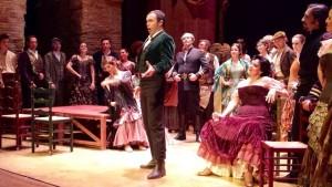 Simón Orfila en uno de los ensayos de estos días en el Teatre Principal de Maó. Foto S.O.