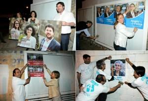 Candidatos de diferentes partidos cumpliendo con la tradición del arranque de campaña. FOTO. Tolo Mercadal
