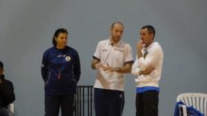 Martínez, en el centro de la imagen, en un entrenamiento (Foto: CCE Sant Lluís)