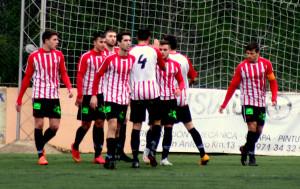Celebración del Mercadal (Foto: futbolbalear.es)
