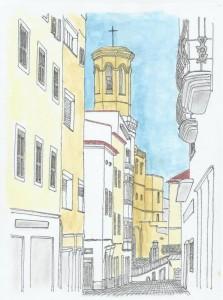 Uno de los dibujos a color de Víctor Codina.