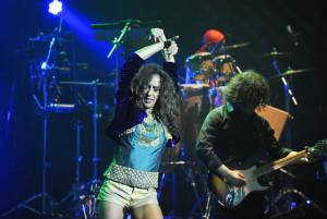 La cantante, en un momento del recital. FOTO.- Tolo Mercadal