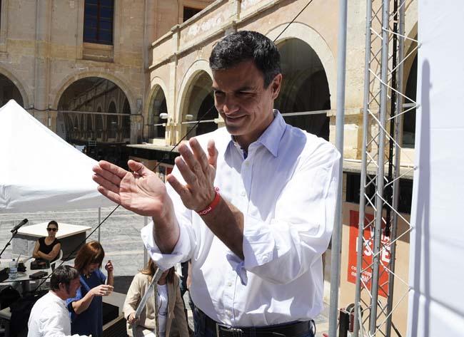 Pedro Sánchez, en una imagen de archivo durante su última visita a Menorca, puede ser investido presidente del Gobierno.