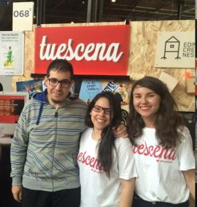 Israel Hergón, uno de los usuarios de Tuescena, se acercó por el stand a saludar a sus promotores. FOTO.- @tuescena_
