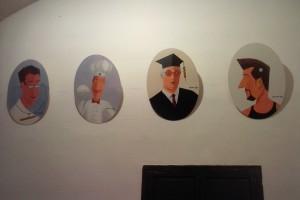 4 de las 'carotes' del año pasado, pintadas por Josep Gornès.