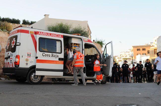 Ambulancia de la Creu Roja.