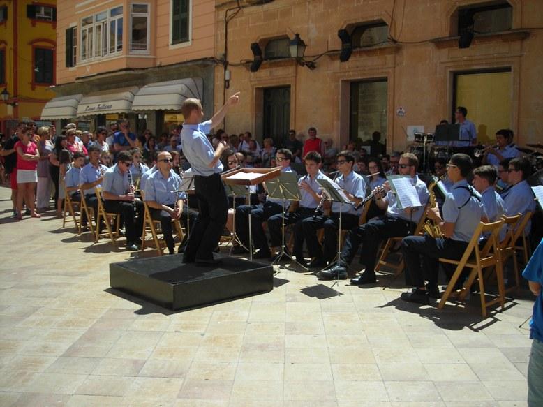 Banda Municipal Música Ciutadella. Plaça Catedral..